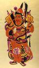 民间艺术0013,民间艺术,中国民间艺术,福将 抱刀 喜事