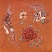 民间艺术0022,民间艺术,中国民间艺术,风舞 凤凰 红花