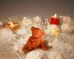 缤纷圣诞0016,缤纷圣诞,中国民间艺术,大耳朵 泥像 丝绒 雪花 柔软