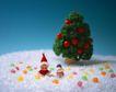 缤纷圣诞0018,缤纷圣诞,中国民间艺术,雪地 圣诞帽 雪人 圣诞树 苹果