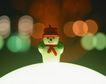 缤纷圣诞0022,缤纷圣诞,中国民间艺术,雪人 圣诞节 灯光