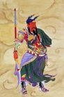 门神0001,门神,中国民间艺术,关羽 手握 青龙刀