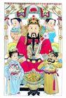 门神0005,门神,中国民间艺术,玉皇 大帝 簇拥