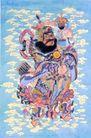 门神0006,门神,中国民间艺术,门神 守将 腾云