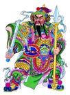 门神0007,门神,中国民间艺术,长枪 横立 铜锏
