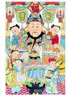 门神0009,门神,中国民间艺术,福 招财 财神