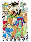 门神0010,门神,中国民间艺术,仙鹤 门神 装束
