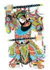 门神0016,门神,中国民间艺术,武器 姿势 表情