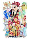 门神0017,门神,中国民间艺术,童子 招财 庇佑