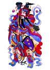 门神0019,门神,中国民间艺术,民间 色彩 服装