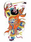 门神0021,门神,中国民间艺术,武将 门神 祈福