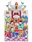 门神0024,门神,中国民间艺术,财神 过年 贴画