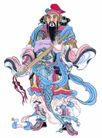 门神0026,门神,中国民间艺术,彩带 服饰 门将