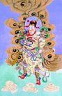 门神0028,门神,中国民间艺术,彩云 门神 神将