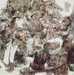 自乐班图,人物名画,中国现代名画,工人阶级