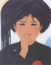 苗寨新嫁娘图,人物名画,中国现代名画,