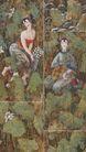 荷塘情思、四季之一图,人物名画,中国现代名画,