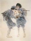 西风烈图,人物名画,中国现代名画,