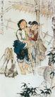 隆隆春水育新苗图,人物名画,中国现代名画,