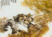 黄河在咆哮图,人物名画,中国现代名画,