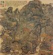 秋山出居图,山水名画,中国现代名画,