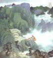 秦岭新秋图,山水名画,中国现代名画,