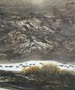 莽原  图,山水名画,中国现代名画,