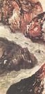 赤崖映碧流图,山水名画,中国现代名画,