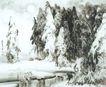 雪漫兴安图,山水名画,中国现代名画,