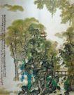 青城云下幽图,山水名画,中国现代名画,