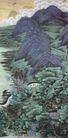 青峦耸翠图,山水名画,中国现代名画,