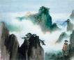 黄山图,山水名画,中国现代名画,