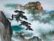 黄山晴峦图,山水名画,中国现代名画,
