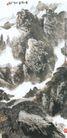 黄山烟云图,山水名画,中国现代名画,