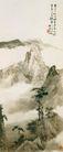 黄山玉柱峰图,山水名画,中国现代名画,