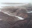 黄河从这里流过图,山水名画,中国现代名画,山水画 名家作品 起伏山脉