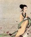 湘夫人1,傅抱石,中国近代大师名画,