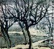 满天飞雪眩双眸,傅抱石,中国近代大师名画,黑色 森林 荒凉