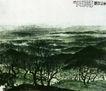 白山林海,傅抱石,中国近代大师名画,黑色 沃野 宁静