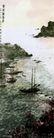 老虎滩渔港,傅抱石,中国近代大师名画,山水 流水 大师
