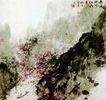 西风吹下红雨来,傅抱石,中国近代大师名画,花丛 生长 傅抱石