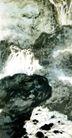 观瀑图3,傅抱石,中国近代大师名画,激流 水流 岩石