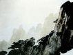 黄山写生稿,傅抱石,中国近代大师名画,