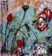 粗枝大叶荷花(a),刘海栗,中国近代大师名画,