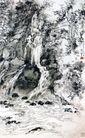 莫干山剑池,刘海栗,中国近代大师名画,石洞 小河 流淌