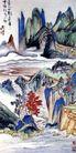 返照入江翻石避,刘海栗,中国近代大师名画,色彩 彩绘 名画