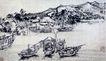 震泽渔民(b),刘海栗,中国近代大师名画,小船 湖面 码头