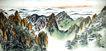 黄山云海写生,刘海栗,中国近代大师名画,群山 云海 全景