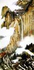 华岳高秋,张大千,中国近代大师名画,落差 意境 云雾