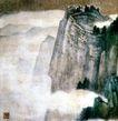 峨眉山水图,张大千,中国近代大师名画,雾气 顶峰 角度